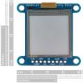 "SHARP Memory Display Breakout - Silver Monochrome (1.3"", 96x96)"